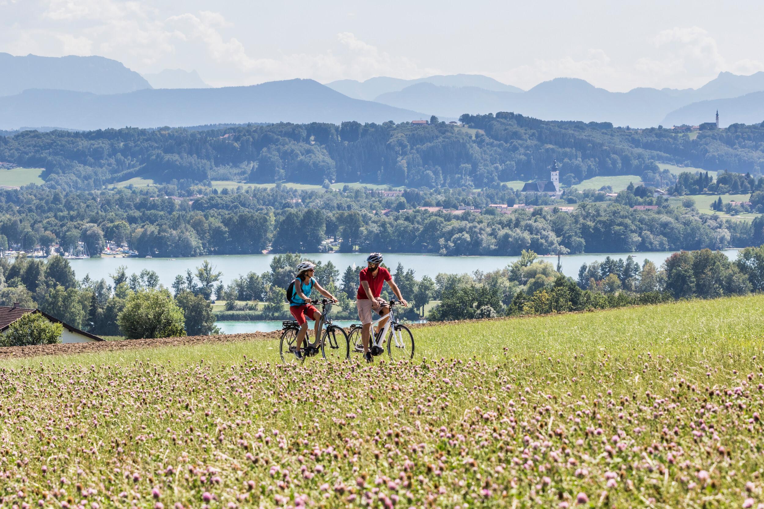 Radfahren am Waginger See